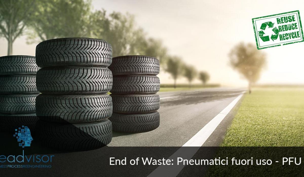 Economia circolare End of waste per gomma riciclata da pneumatici (PFU)